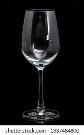 wine glass black background