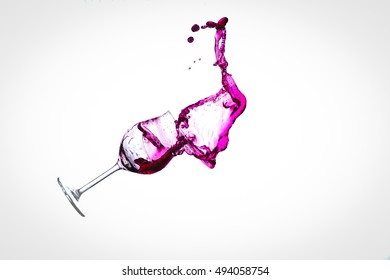 Wine and Wine Glass in Free Fall - Motion Capture