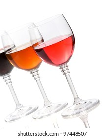 wine in glass isolated on white background