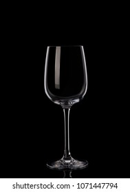 Wine glass on black background
