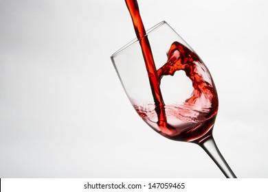 Wine glass on white background