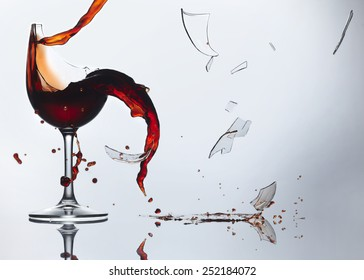 Wine Glass shattered