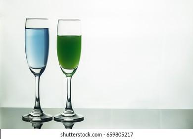 wine glass white background