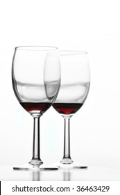 wine glasses high key