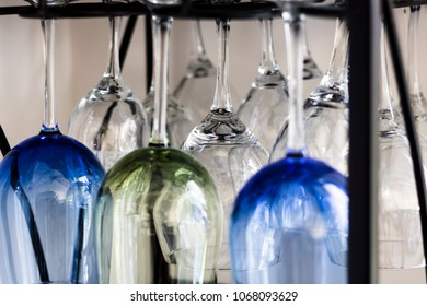 Wine Glasses on Display