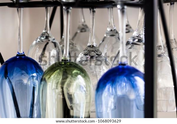 Wine Glasses on Display
