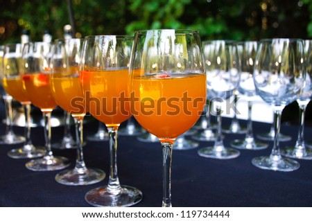 Wine Glasses Punch Ready Wedding Reception Stock Photo Edit Now