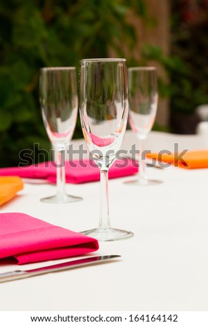 Wine Glasses Setup Decor This Wedding Stock Photo Edit Now