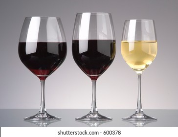 wine glasses with stems