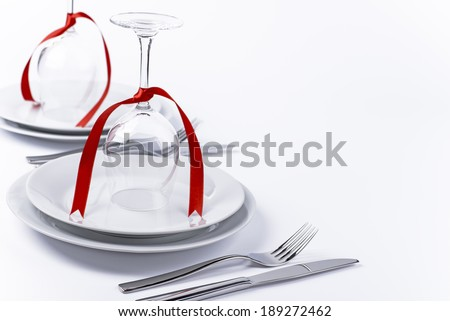 Wine Glasses Turned Upside Down Red Stock Photo Edit Now 189272462