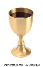 Wine for Holy Communion or the Lords Supper Isolated on a White Background