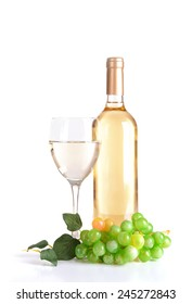 Wine isolated on white