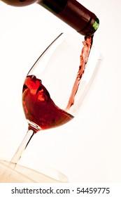 Wine isolated on white background
