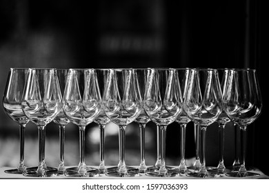 Wine and liqueur set on blurred background