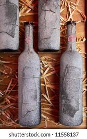Wine. Old Wine rack