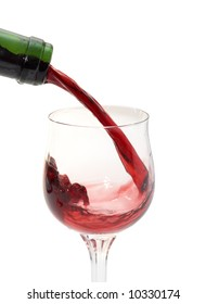 Wine pour in a glass from a bottle