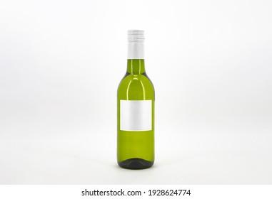 Wine Quarter. Mini Bottle Mock-Up. Blank Label