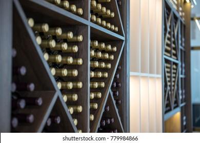 wine rack and cork