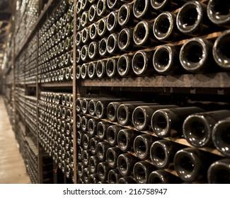 Wine Racks in an old Wine cellar