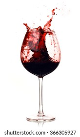 wine red in the glass