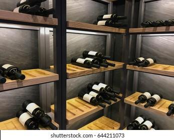 Wine Shelf in Wine cellar