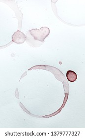 wine stain on paper