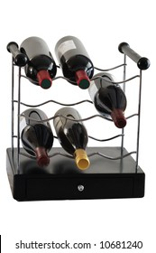Wine storage unit isolated on wite