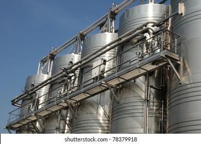 wine tank in Provence