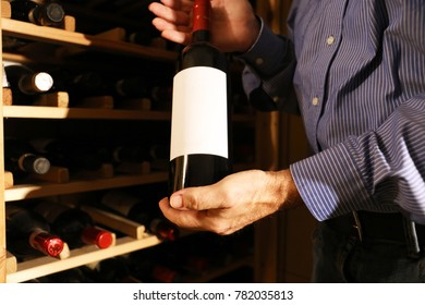 Wine tasting in the wine cellar of a winery