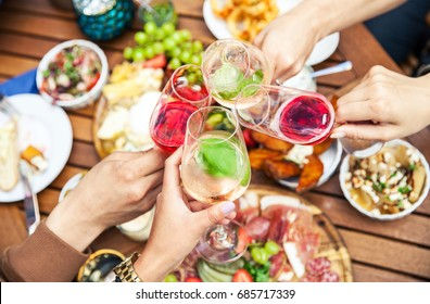 Wine tasting with delicious snacks and tapas