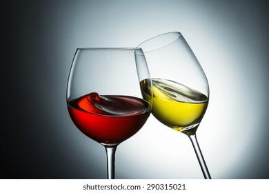 Wine varieties, red wine - white wine swing