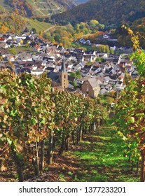 Wine Village of Dernau in Ahrtal near Bad Neuenahr-Ahrweiler,Rhineland-Palatinate,Germany