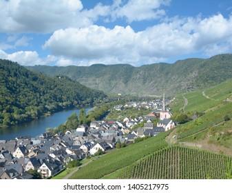 Wine Village of Ediger Eller in Mosel Valley,Rhineland-Palatinate,Germany