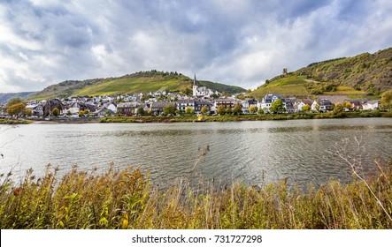 Wine village  Klotten at the river Moselle Rheinland Pfalz Germany