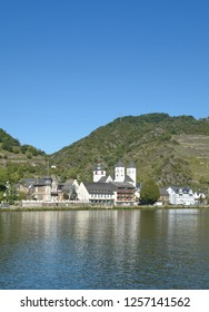 Wine Village of Treis-Karden with famous Sankt Castor Church at Mosel River,Rhineland-Palatinate,Germany