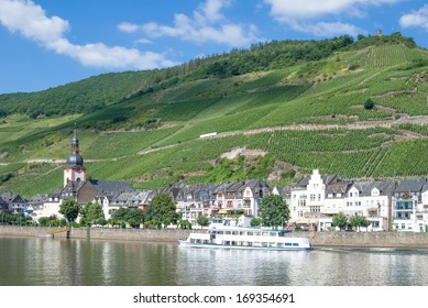 Wine Village of Zell in Mosel Valley,Rhineland-Palatinate,Germany