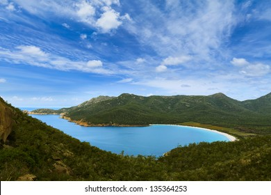 Wineglass Bay in Tasmania, Australia during the day