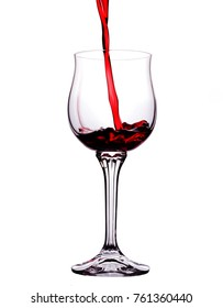 Wineglass on white background