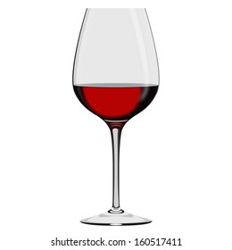 Wineglass with Wine Isolated