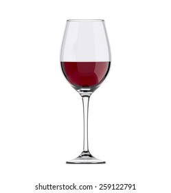 wineglass with wine, isolated