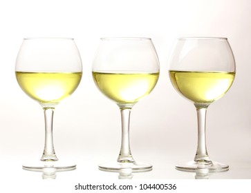 Wineglasses isolated on white