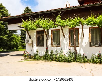 Winery in Bulgaria. Old building of rural winery in the Balkans