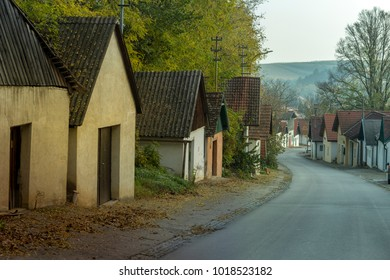 Winery street in a old village