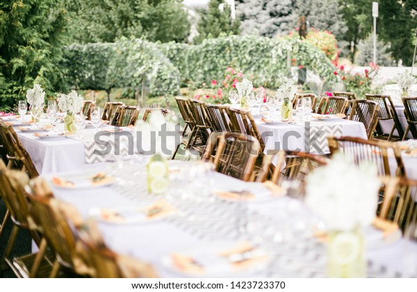 Winery Wedding Reception Table Top Stock Photo (Edit Now) 1423723370