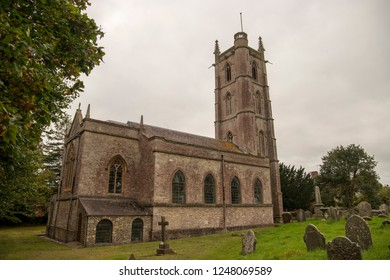Winford, UK, 11-17-2018: The Church of St Mary and St Peter, Winford, Bristol