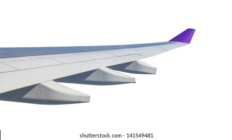 Wing airplane, on white background