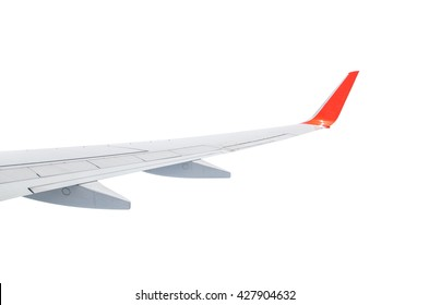 Wing plane isolated on white background with, clipping path