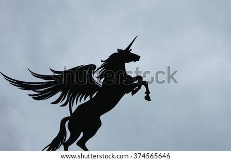 Winged Unicorn Alicorn Stock Photo Edit Now 374565646 Shutterstock