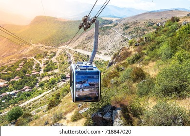 Wings of Tatev cableway, stretching from Halidzor to Tatev Monastery, is officially recorded by Guinness World Records as the world's longest non-stop double track cable car, Syunik Province, Armenia.