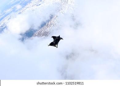 wingsuit over Norway